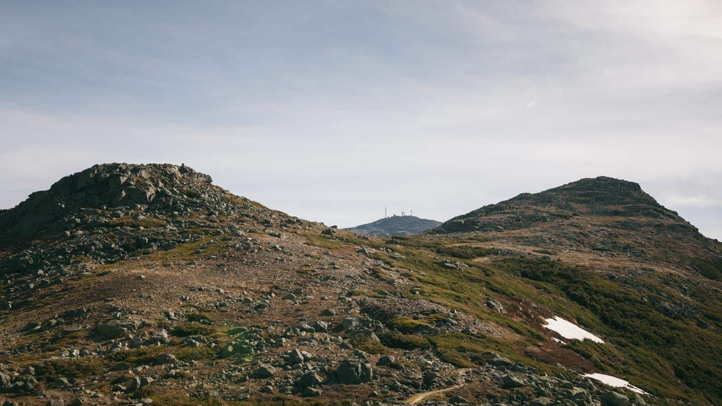 The last view of Mount Washington in the Southern Presidentials